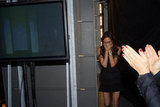 Victoria Beckham let out a sigh of relief after her Spring show. Source: Twitter user victoriabeckham