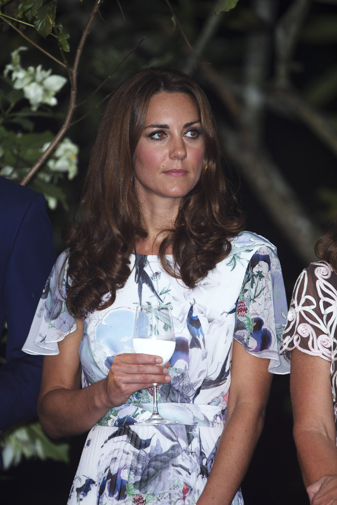 Kate Middleton drank water instead of wine in Singapore.