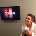 Eva Longoria dropped by the Conan studios in Burbank, CA. 