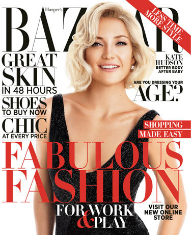 Kate Hudson posed for Harper's Bazaar.