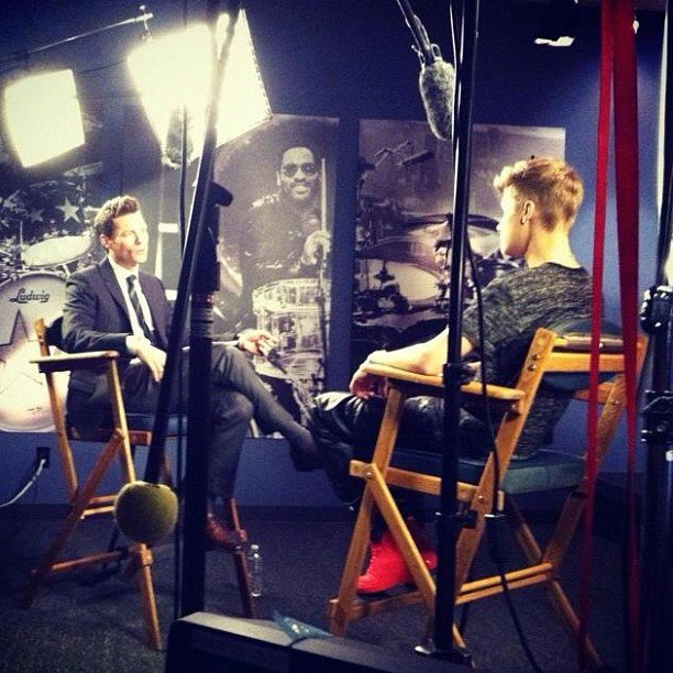 Ryan Seacrest had an interview with Justin Bieber. Source: Instagram user todayshow