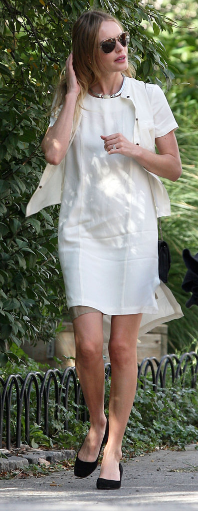 Kate Bosworth wore all white in NYC.