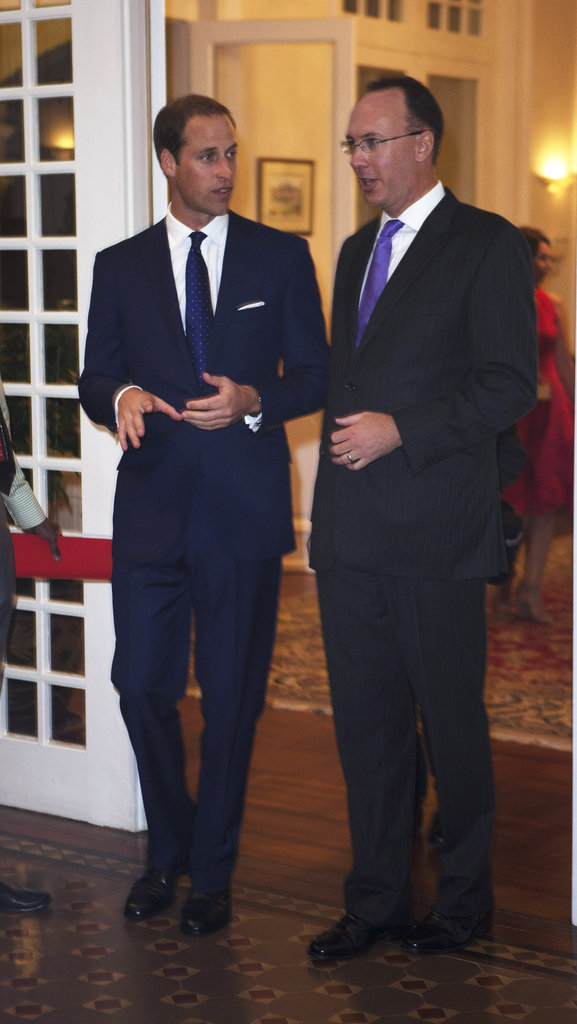 Prince William attended a dinner party in Singapore.