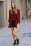 A Fall-feeling blazer transformed this little crochet dress. Source: Greg Kessler