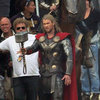 Pictures Of Chris Hemsworth Filming Thor