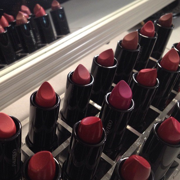 There were plenty of Shiseido colors to choose from backstage at Marc by Marc Jacobs.