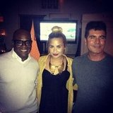 Demi Lovato was sandwiched between fellow X Factor judges Simon Cowell and L.A. Reid. Source: Instagram user demilovat