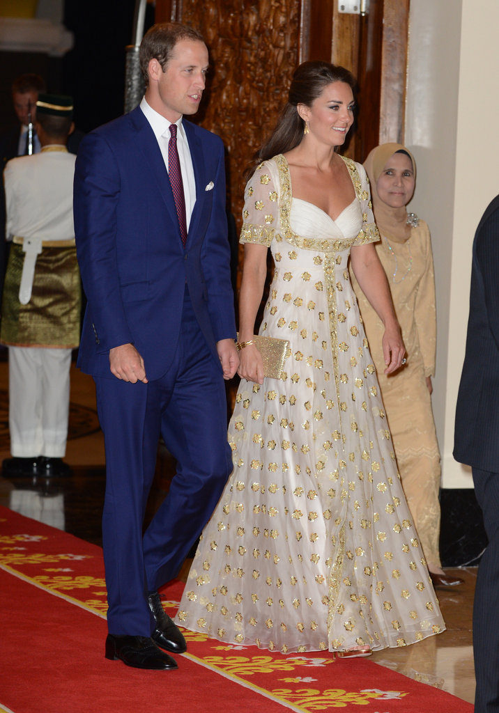 Prince William and Kate Middleton attended an official dinner hosted by Malaysia's head of state on day three of their tour.