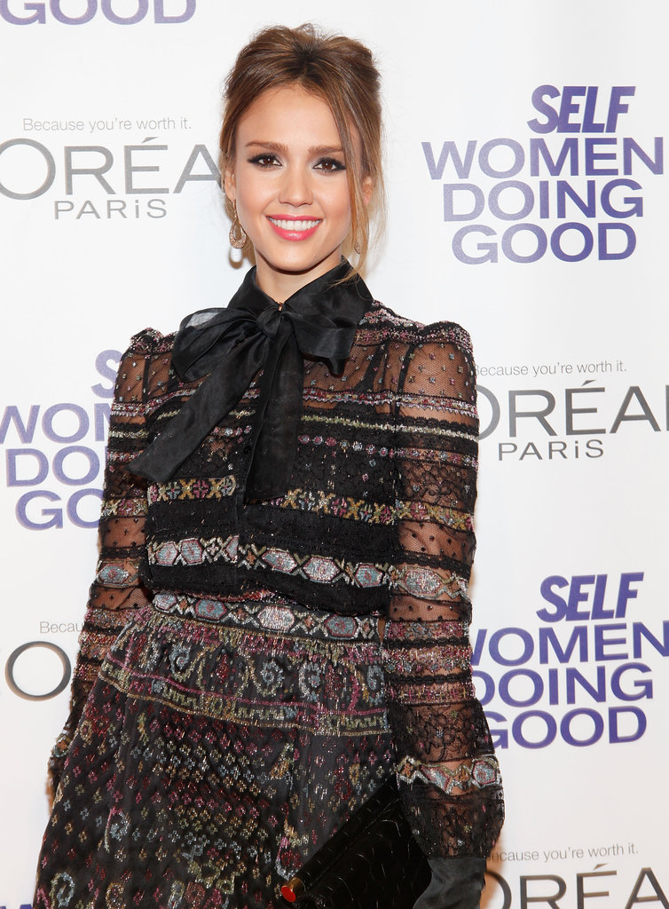 Jessica Alba smiled at the Self magazine Women Doing Good Awards in NYC.