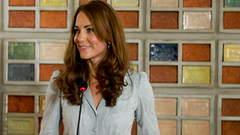 Video: Kate Middleton's First Speech Abroad!