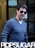 Tom Cruise left a meeting in London.