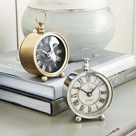 With a sleek, vintage-inspired design and beaded rim, the Delcampe Petite Alarm Clock ($65) is a polished pick for your bedside table.