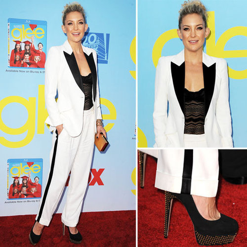 Kate Hudson in White Suit at Glee Premiere