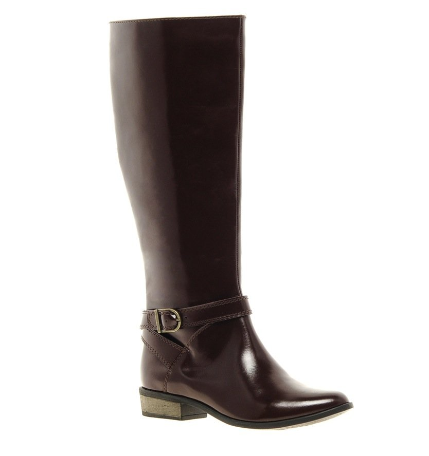 A no-fail riding boot for cooler days — the darker oxblood hue is right on trend, but in all honesty, we're pretty sure this boot will serve you well for seasons to come. ASOS Cadalac Leather Knee High Boots ($121)