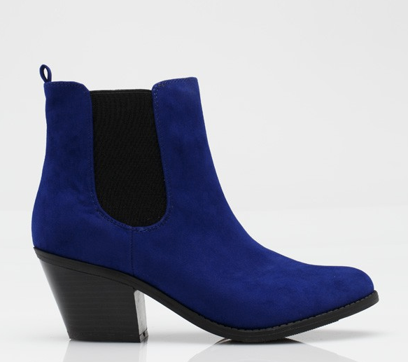 Try on this season's obsession with cobalt blue via this Chelsea boot silhouette. It'll make a simple LBD pop. Need Supply Co. Muse Ankle Boot in Blue ($58)