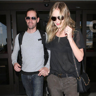 Kate Bosworth and Michael Polish at the Airport