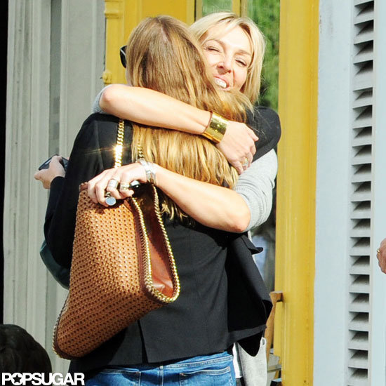 Stella McCartney hugged a pal.