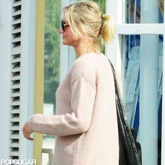 Cameron Diaz wore a Stella McCartney Falabella bag.