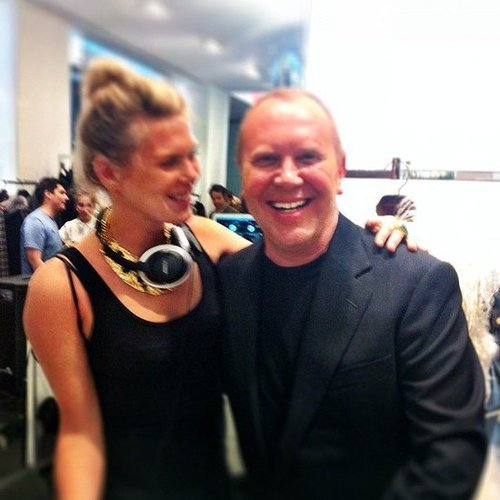 Alexandra Richards partied with designer Michael Kors at the Kors Collaborations celebration during NYFW. Source: Instagram user michaelkors