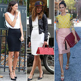 Our editors couldn't help but notice how popular pencil skirts were among the show-goers.