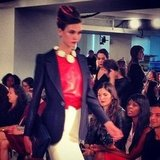 Karlie Kloss got things started with her signature stare at Oscar de la Renta.