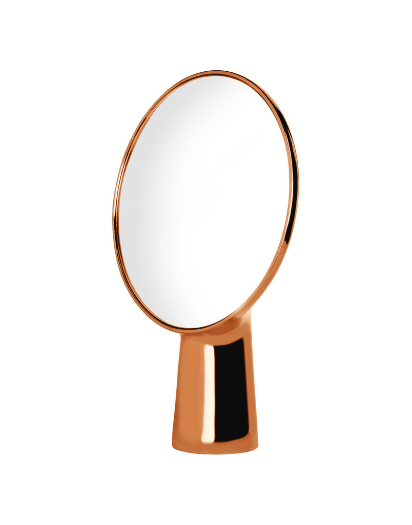Dress up your bookcase or side table with the sculptural Moustache Mirror ($589).