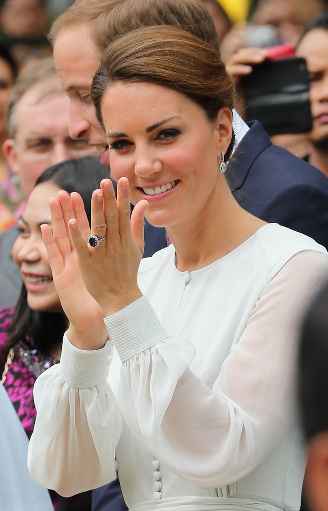 The Duchess wore her hair up.