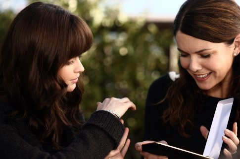 On Shopping Lorelai: Don't study so much that you get brilliant, go mad, grow a big bald egghead, and try to take over the world, OK? 'Cause I want to go shoe shopping this weekend. Rory: Promise. I will not go mad until we get you some boots.