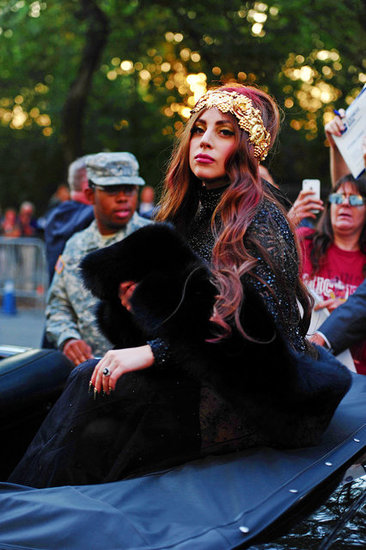 Lady Gaga Rides Through New York in a Rolls Royce to Launch Fame