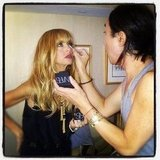 Rachel Zoe had a beauty touch-up ahead of her show at NYFW. Cute fringe! Source: Instagram user rachelzoe