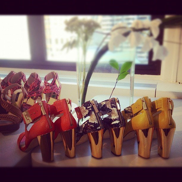 Rachel Zoe showed off some of the shoes in the latest collection for her eponymous label. Source: Instagram user rachelzoe