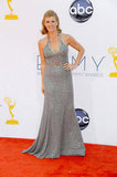 American Horror Story nominee Connie Britton — soon to be Nashville star — posed at the Emmys.