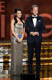 Lucy Liu and Kiefer Sutherland presented at the Emmys.