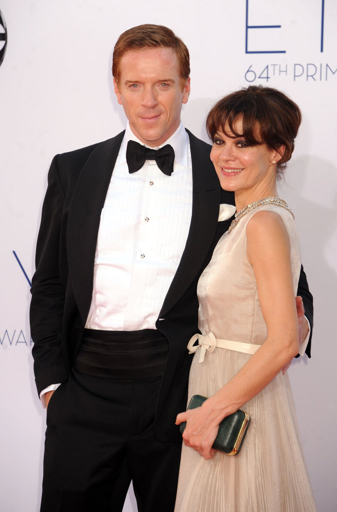 Homeland's Damian Lewis had his arm around wife Helen McCrory before the show.