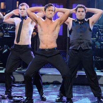 Joseph Gordon-Levitt Dancing For Magic Mike SNL Skit