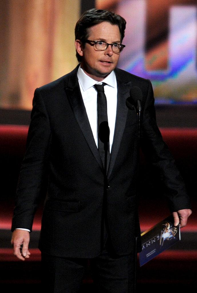 Michael J. Fox received a standing ovation as soon as he walked on stage.