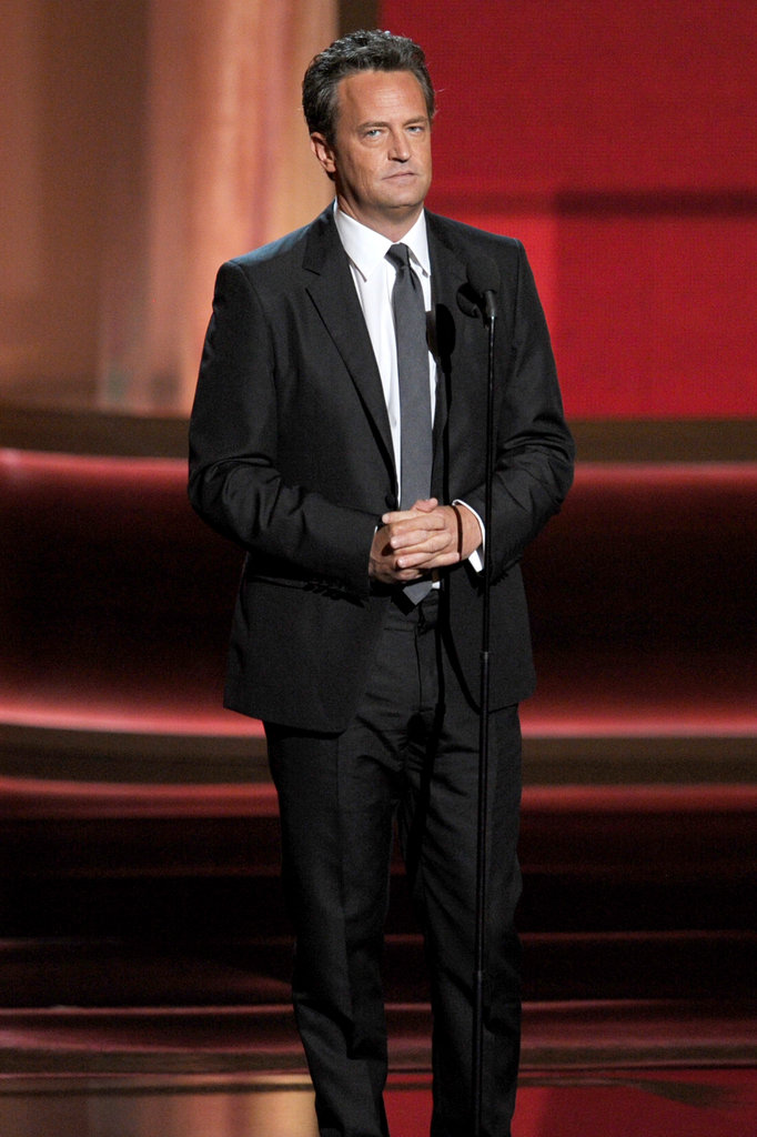 Go On star Matthew Perry joked about loving attention while presenting at the Emmys.