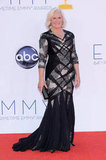 Glenn Close wore a black gown with cutouts for the Emmys.