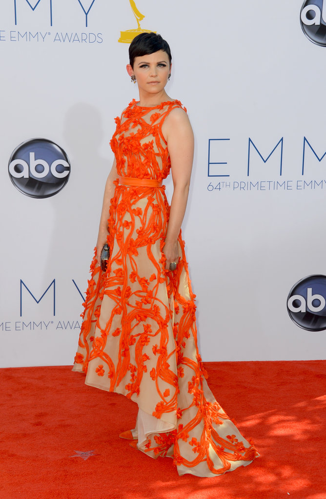 Ginnifer Goodwin stunned in her Monique Lhuillier gown at the Emmys.