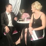 Our own Lindsay Miller chatted with Breaking Bad winner Aaron Paul backstage. Source: Instagram user popsugar