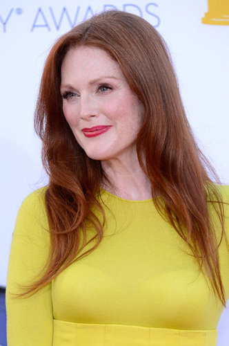 Julianne Moore arrived at the Emmy Awards.