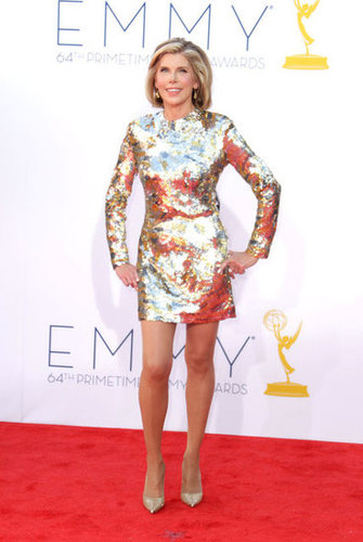 Chistine Baranski showed off her legs.