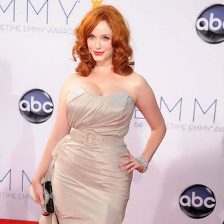 Christina Hendricks in Christian Siriano at the Emmys 2012