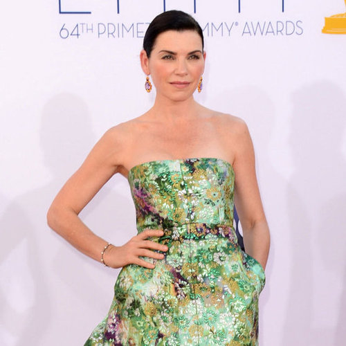 Julianna Margulies in a Floral Gown at the Emmys 2012