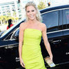 Julie Bowen Pictures at 2012 Emmys in Neon Monique Lhuillier Dress