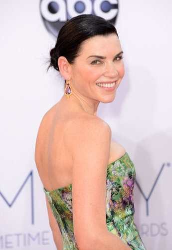 Julianna Margulies posed on the red carpet at the Emmys.