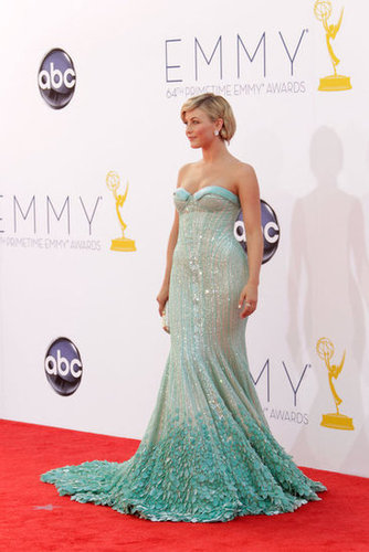 Julianne Hough wore a beaded teal dress.