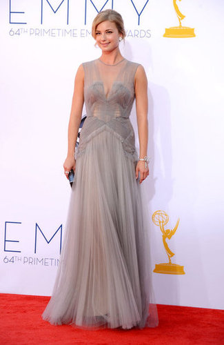 Emily VanCamp sparkled in a gray J. Mendel gown for the Emmys.