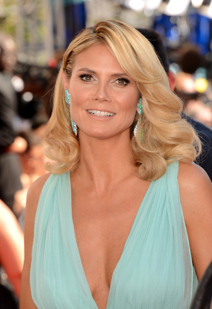 Heidi Klum arrived at the Emmy Awards.