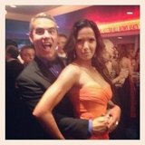 Andy Cohen and fellow Bravo-lebrity Padma Lakshmi bonded on the dance floor. Source: Instagram user instylemagazine